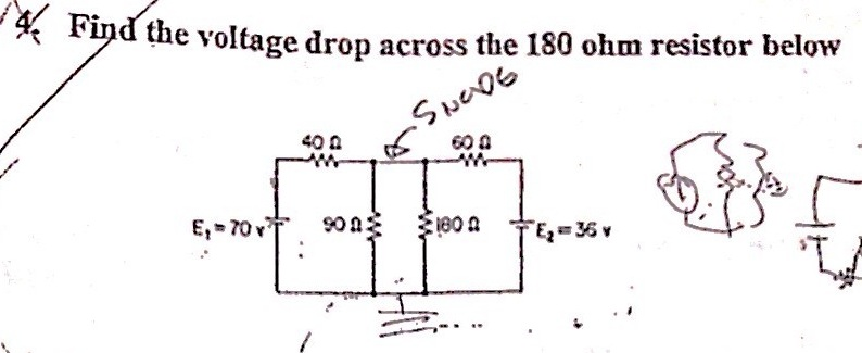 Find the voltage drop across the 180 ohm resistor