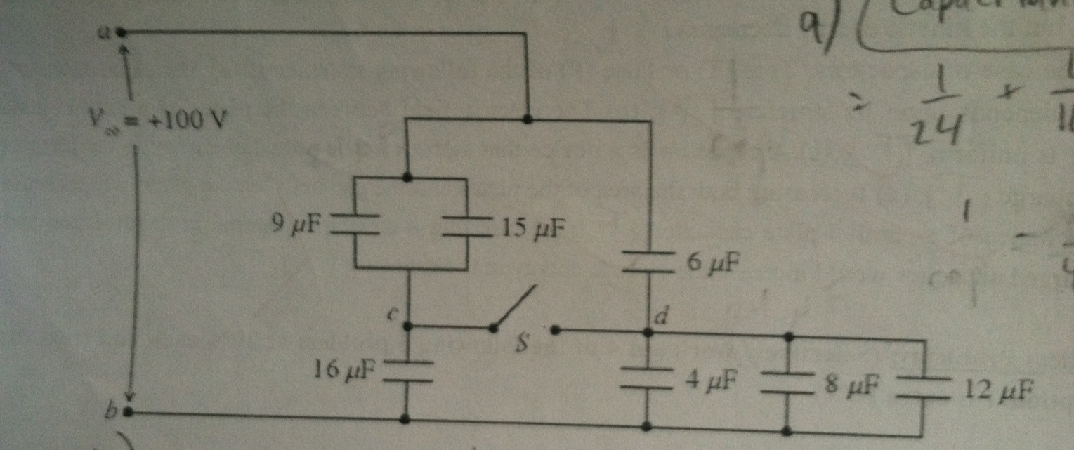 The capacitive network shown in the figure is asse