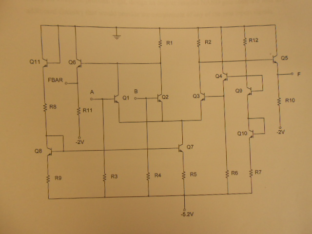 Using the circuit below, design an Emitter coupled