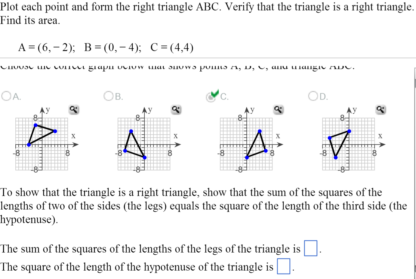 Image For Plot Each Point And Form The Right Triangle Abc Verify That The  Triangle