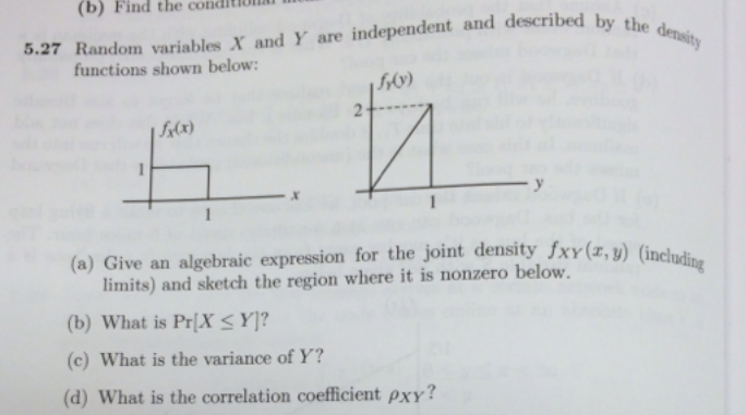 Random variables X and Y are independent and descr