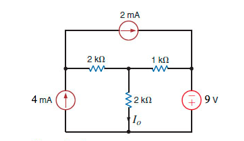 Find Io in the circuit in Figure 3.63 using loop a