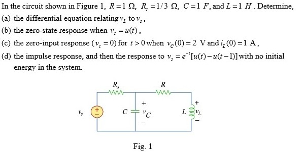 In the circuit shown in Figure 1, R = 1ohm, r=1/3