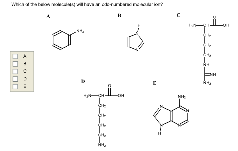 Which of the below molecule(s) will have an odd-nu