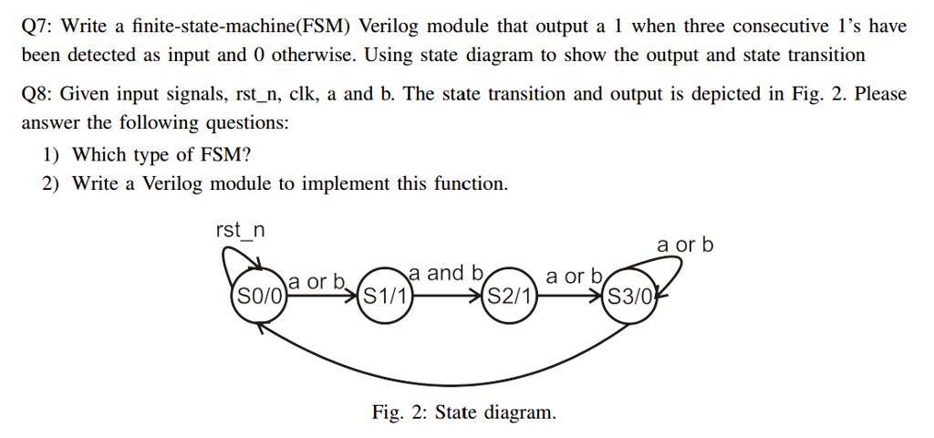 Solved q7 write a finite state machinefsm verilog modu q7 write a finite state machinefsm verilog module that output ccuart Image collections