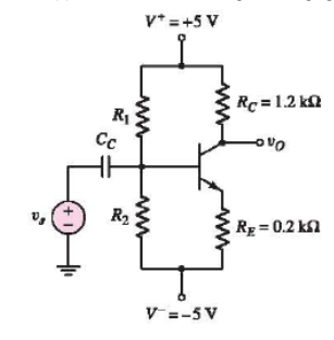 The parameters of the transistor in the circuit in