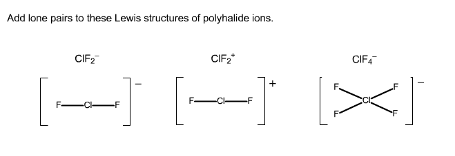 how to add lone pairs on mastering chemistry