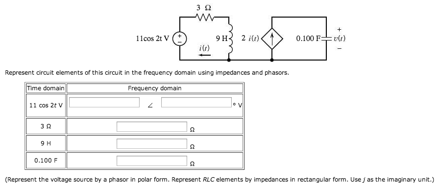 Represent circuit elements of this circuit in the