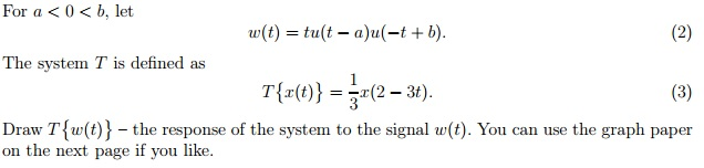 For a < 0 < b, let The system T is defined as Dr