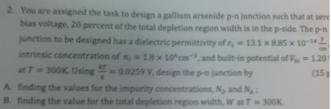 You are assigned the task to design a gallium arse