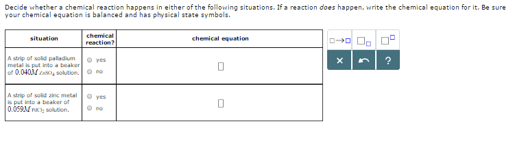 Solved Decide Whether A Chemical Reaction Happens In Eith