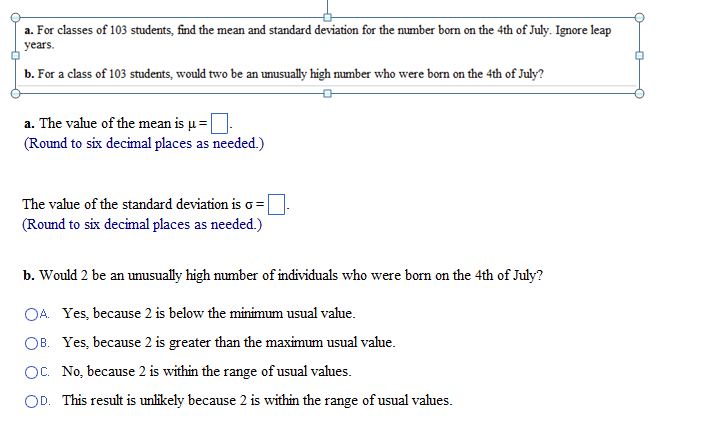 how to show the ratio of standard deviation to mean