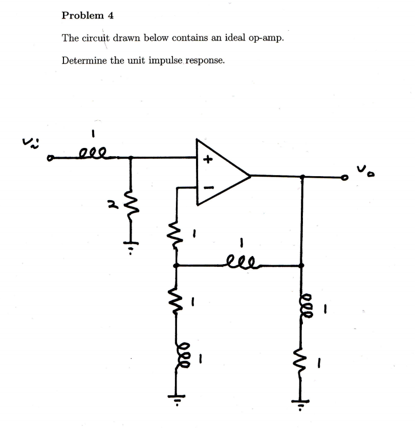 solved  the circuit drawn below contains an ideal op amp