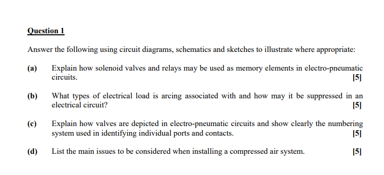 Solved: Answer The Following Using Circuit Diagrams, Schem ...
