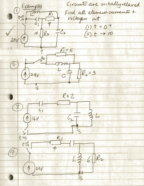 Circuits are inihallyrelated Find all element cur