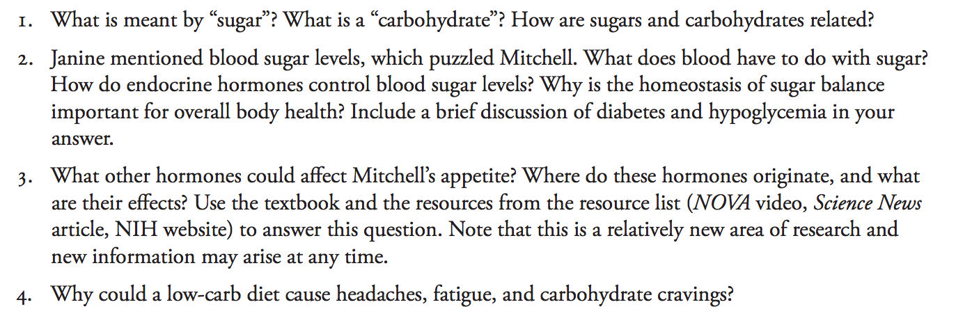 """what is meant by """"sugar""""? what is a """"carbohydrate"""" 