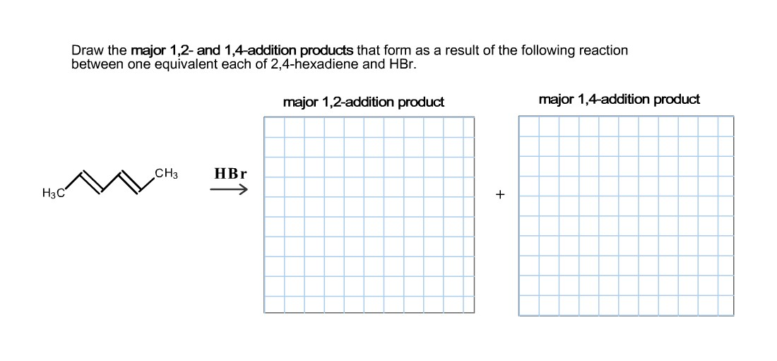 Draw The Major 1, 2- And 1,4-addition Products Tha... | Chegg.com