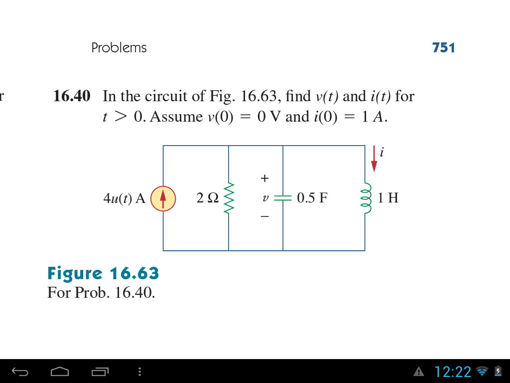 In the circuit of Fig. 16.63, find v(t) and i(t) f