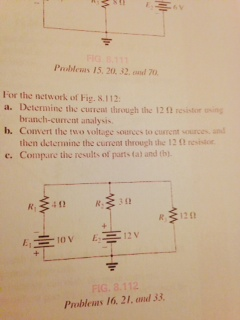 For the network of Fig.8.11.2: Determine the curr