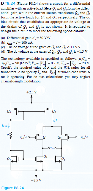 Figure P8.24 shows a circuit for a differential am