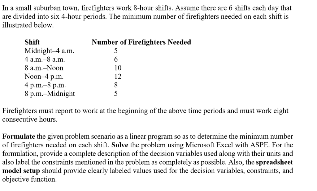 firefighters shifts