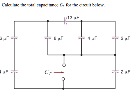Assuming the 12 mu F anf 4 mu F capacitors have ch