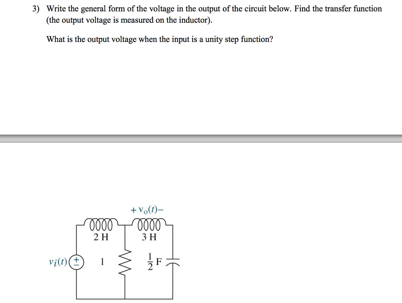Write the general form of the voltage in the outpu