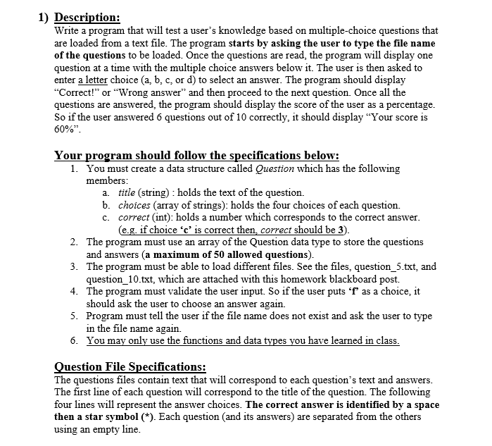 Solved 1 Description Write A Program That Will Test A U