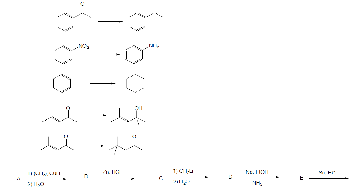 Match the organic reaction with the correct one.