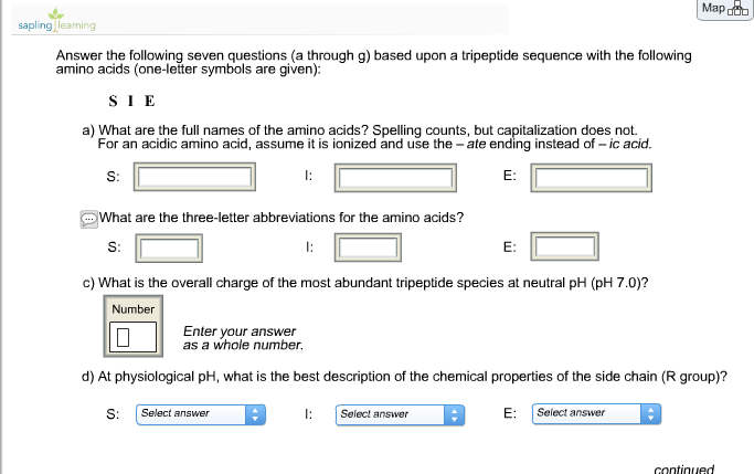 Solved Map O Saplingeaning Answer The Following Seven Que