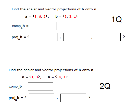 Vector projection questions