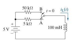 The switch in this circuit has been in position A