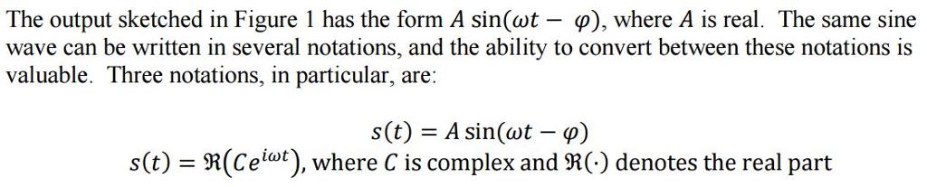 S(t) = Alpha Cos(omega T) + Beta Sin(omega T) The ...   Chegg.com