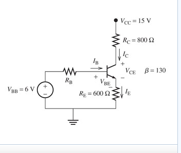 Find the value of Rb for the output voltage to be