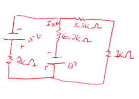 Find Ix in the below circuit using superposition.