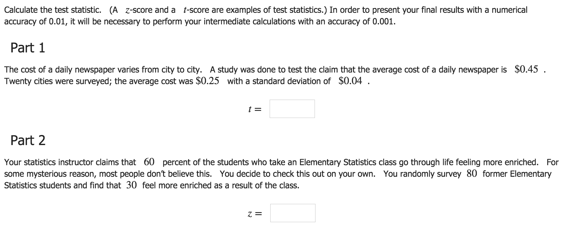 an example of statistics exam Advanced placement statistics free practice questions examples use these problems with your class.