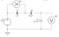 What is the equivalent capacitance of the circuit