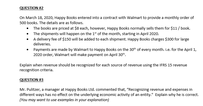 Question 2 On March 18 2020 Happy Books Entered Chegg