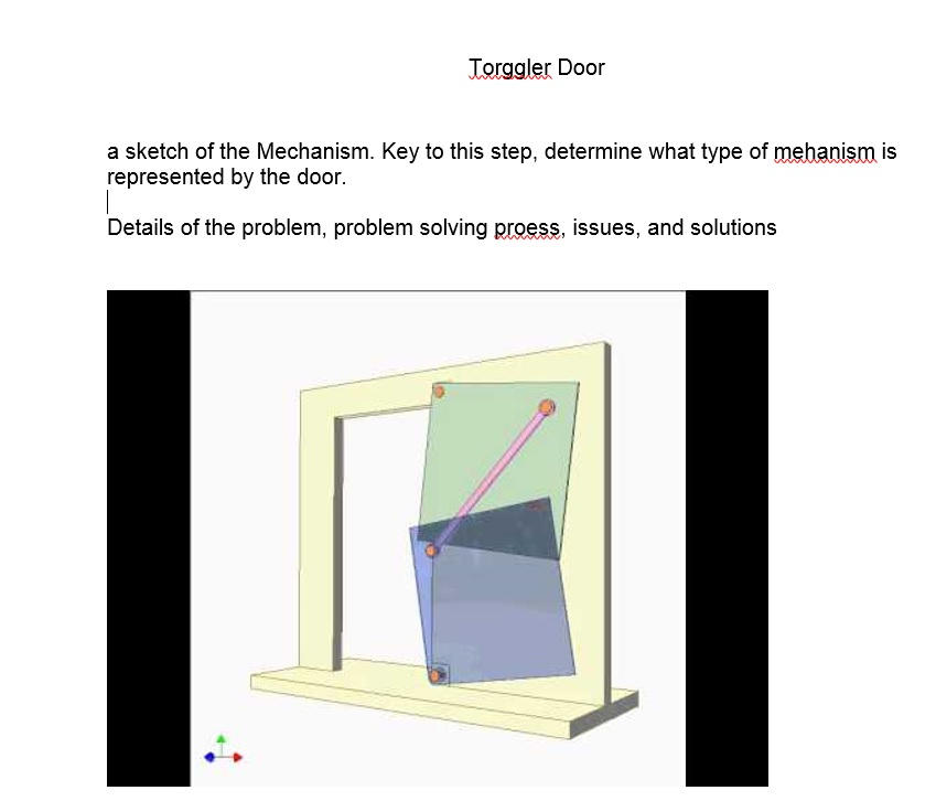 Torggler Door a sketch of the Mechanism. Key to this step determine what type  sc 1 st  Chegg & A Sketch Of The Mechanism. Key To This Step Deter... | Chegg.com