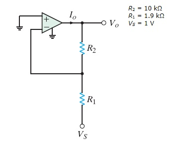 For the amplifier in the figure below (the input v