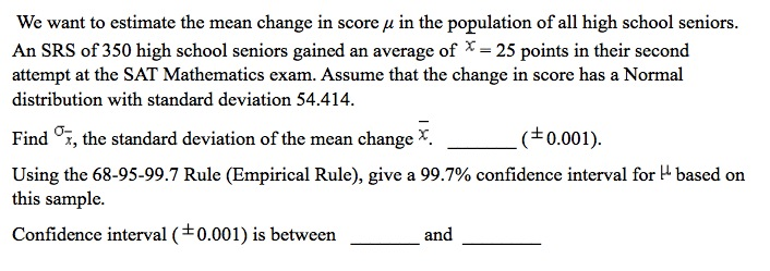 standard deviation and high school seniors Where z is standard normal similarly, you could find the proportion of the population scoring above 1800, or below 1450, or between 1450 and.
