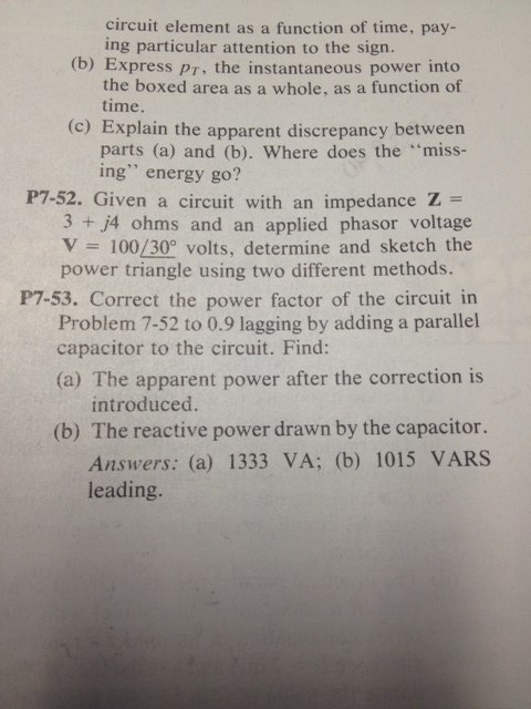 circuit element as a function of time, paying part