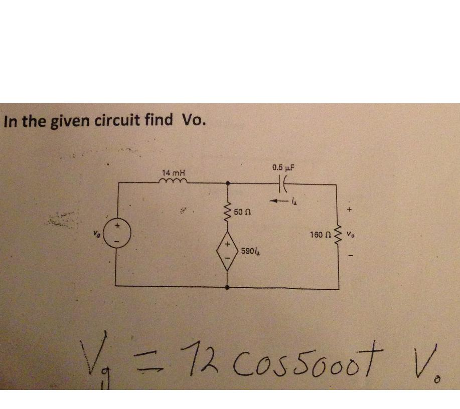 In the given circuit find Vo.