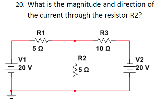 What is the magnitude and direction of the current