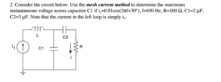 Consider the circuit below. Use the mesh current m