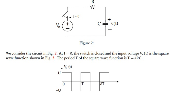 We consider the circuit in Fig. 2. At t = 0, the s