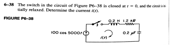 The switch in the circuit of Figure P 6 -3 8 is cl