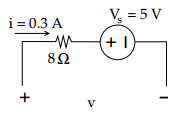 Calculate voltage between +&n