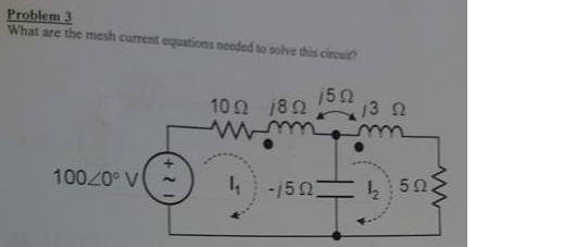 What are the mesh current equations needed to solv