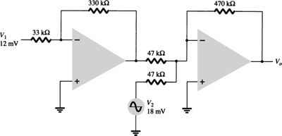 Determine the output voltage for the circuit of Fi